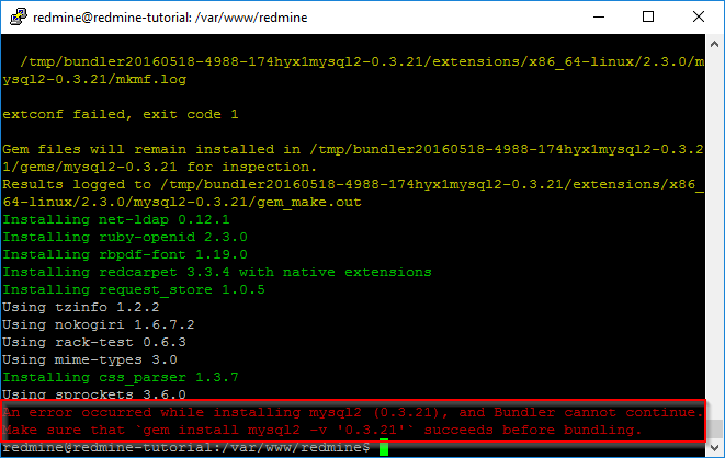 Ubuntu Abhägigkeiten für Redmine installieren