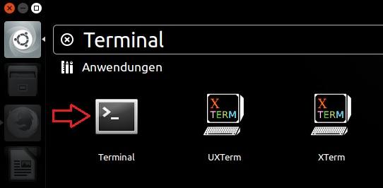 Terminal öffnen