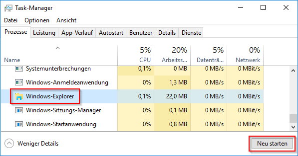 Windows 10 Task-Manager