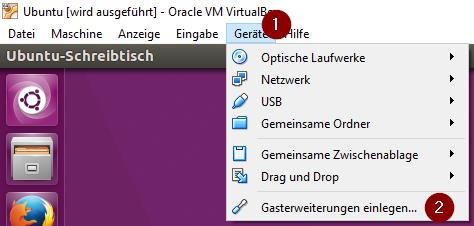 VirtualBox Gasterweiterung installieren
