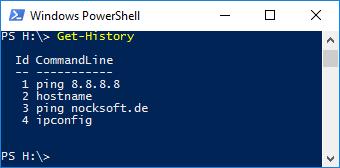 PowerShell History