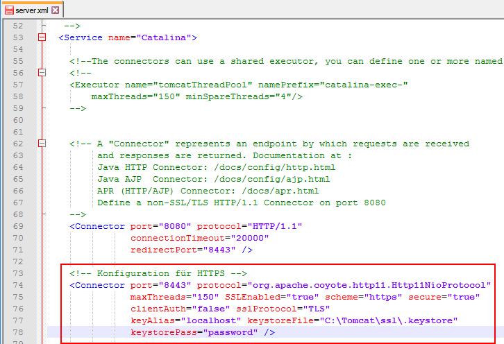 Tomcat Self Signed Zertifikat installieren