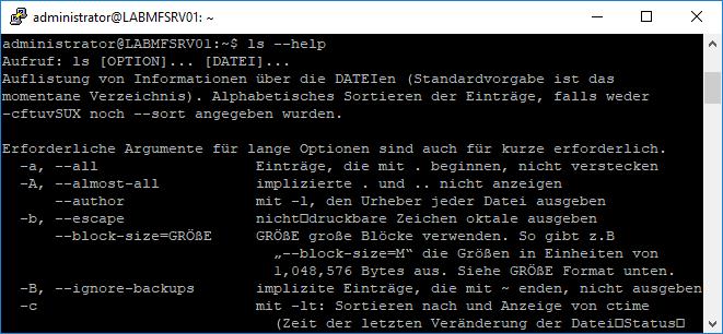 Linux Shell Hilfe