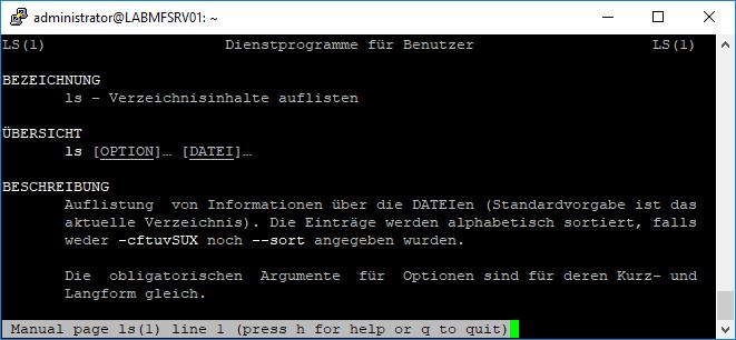 Linux Befehle man