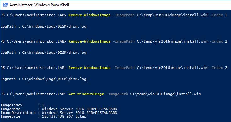 Remove-WindowsImage