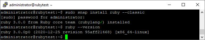 Ubuntu Ruby snap installieren