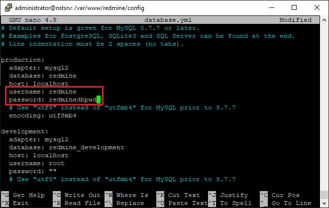 Redmine unter Ubuntu installieren und Datenbankparameter anpassen