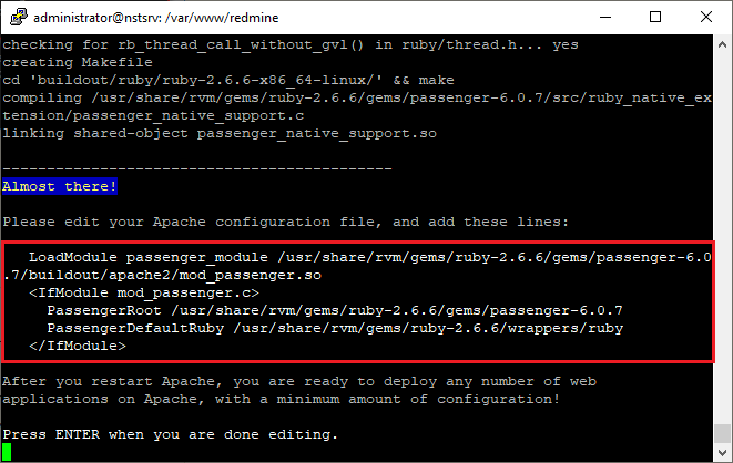 Ubuntu passenger-install-apache2-module