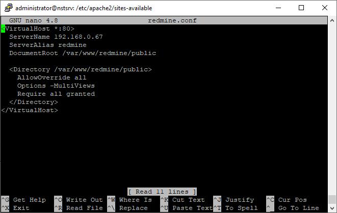 Redmine unter Ubuntu installieren und Apache VirtualHost (redmine.conf) einrichten