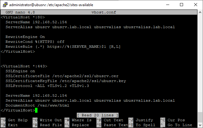 Apache VirtualHost HTTPS/SSL