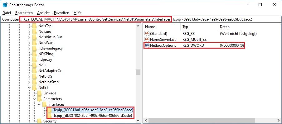 NetBIOS Registry